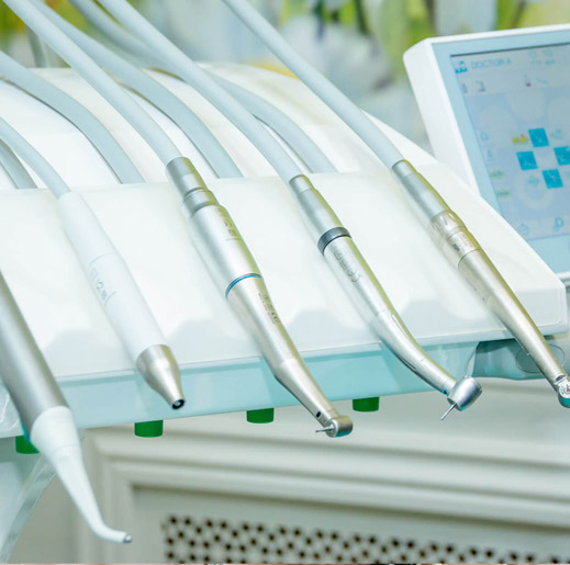 dental machinery for emergency dental services and care