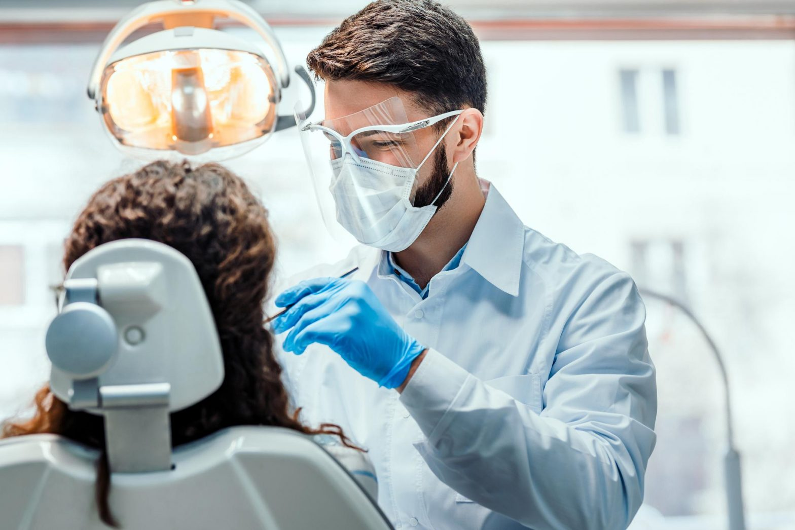 dental treatment with safety precautions